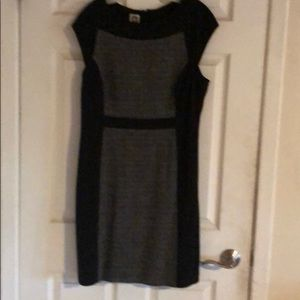 Knit and tweed dress